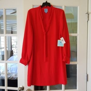 NWT CeCe size 10 red sophisticated dress.